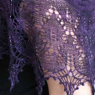knitting: silk lace shawl, 2012